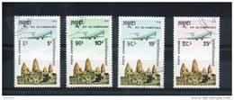 Kampuchéa.  Poste Aérienne. Avion Au Dessus D'angkor - Kampuchea