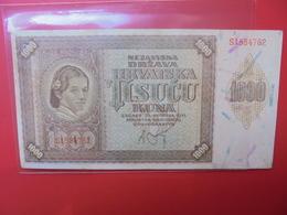 CROATIE 1000 KUNA 1941 PEU CIRCULER-BELLE QUALITE (B.1) - Croatie