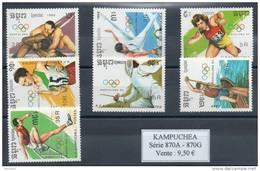 Kampuchéa.  Jeux Olympiques De Barcelone 1992 - Kampuchea