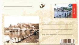 Belgien Bildpostkarte Huy - Brücke übder Die Maas, Burg Und Kirche -  Früher Und Heute - Pont, Bridge - Entiers Postaux