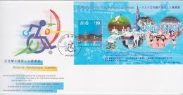 Hong Kong 1997 Tlanta Paralympic Games Miniature Sheet FDC - Hong Kong (1997-...)