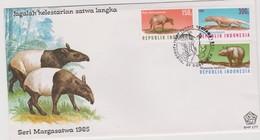 Indonesia !985 Wildlife FDC - Indonesia