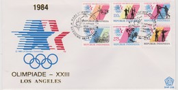 Indonesia 1984 Los Angeles Olympic Games,FDC - Indonesia