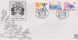 Indonesia 1987 14th Southeast Asia Games FDC - Indonesia