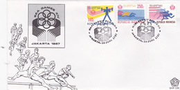 Indonesia 1987 14th Southeast Asia Games Jakarta FDC - Indonesia