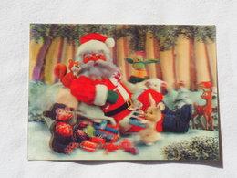 3d 3 D Lenticular Stereo Postcard Christmas Santa Claus  Toppan Japan    A 190 - Stereoscope Cards
