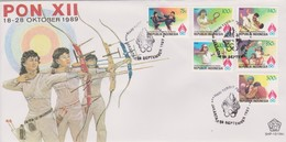 Indonesia 1989 12th National Sport Week FDC - Indonesia
