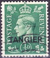 TANGIER 1944 KGVI 1/2d Pale Green SG251 FU - Uffici In Marocco / Tangeri (…-1958)
