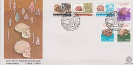 Indonesia 1989 100th Anniversary Discovery Of Paleoanthropologi  FDC - Indonesia