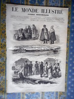 LE MONDE ILLUSTRE 25/11/1876 ORIENT BELGRADE ODESSE FORTERESSE KLADOWA EXPOSITION 1878 JAPON CHINE SIAM DIAZ SEVRES - Periódicos