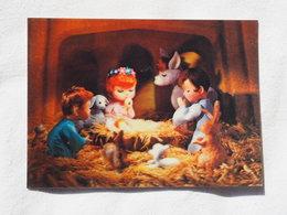 3d 3 D Lenticular Stereo Postcard Nativity   Toppan Japan    A 190 - Stereoscope Cards