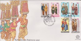 Indonesia 1990 Costumes FDC - Indonesia