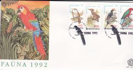 Indonesia 1992 Birds FDC - Indonesia