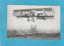 L'Aviateur Farman Volant De Châlons à Reims. - Aviateurs