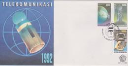 Indonesia 1992 Satellite Communications FDC - Indonesia