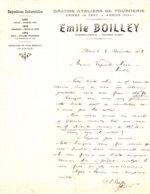 BOILLEY  Atelier De Tournerie   Usine De Césy   ARBOIS  (Jura)  39    1908 - France