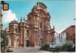 Murcia: MOTORCYCLE, RENAULT 4CV - Cathedral Facade - (Espana/Spain) - Toerisme
