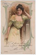 CPA Publicitaire Crème Simon Art Nouveau  Texte Et Litho Alice Bonheur Artiste - Advertising