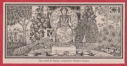 Mois De Juin, Mois De Junon. Composition D'Eugène Grasset. Larousse 1920. - Vieux Papiers