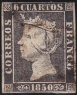 ESPANA  .      Yvert   1A  Type  I       .       O     .         Cancelled   .    /   .   Oblitéré - 1850-68 Royaume: Isabelle II