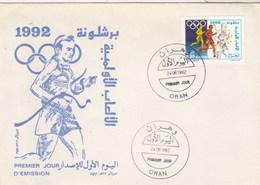 Algérie FDC 1992  Yvert 1020 Jeux Olympiques Barcelone Sports - Algeria (1962-...)