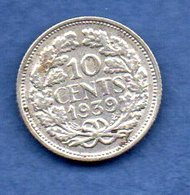 Pays Bas  -  10 Cents 1939 -  Km # 163 - état  TTB - 10 Cent