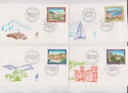 Italy 1991 Tourism Set 4 FDCs - 6. 1946-.. Republic