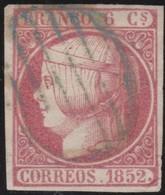 ESPANA  .      Yvert  12      .       O     .         Cancelled   .    /   .   Oblitéré - 1850-68 Royaume: Isabelle II