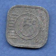 Pays Bas  -  5 Cents 1941 -  Km # 172 - état  TB - 5 Cent