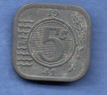 Pays Bas  -  5 Cents 1941 -  Km # 172 - état  TTB - 5 Cent