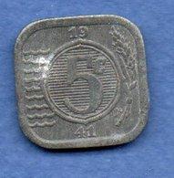 Pays Bas  -  5 Cents 1941 -  Km # 172 - état  TB+ - 5 Cent
