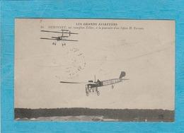 Les Grands Aviateurs. - Dubonnet Sur Monoplan Tellier, à La Poursuite D'un Biplan H. Farman. - Flieger