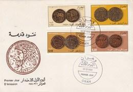 Algérie FDC 1992  Yvert Série 1033 à 1036 Monnaies Anciennes - Algeria (1962-...)