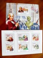 SALE! Mozambique 2 M/s 2009 Music Composer Joseph Haydn Musical Instruments - Mozambique