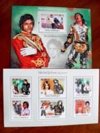 SALE! Mozambique 2 M/s 2009 Music Singer Michael Jackson Pop Saul Hudson - Mozambique