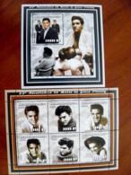 SALE! Mozambique 2 M/s 2002 Music Singer Elvis Presley Boxing Glove - Mozambique
