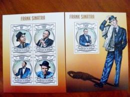 SALE! Burundi 2 M/s 2013 Music Singer Frank Sinatra Smoking - Burundi
