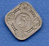 Pays Bas  -  5 Cents 1913 -  Km # 153 - état  TB+ - 5 Cent