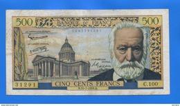 500 Fr  Du  10/7/1958 - 1871-1952 Antichi Franchi Circolanti Nel XX Secolo
