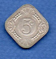 Pays Bas  -  5 Cents 1914 -  Km # 153 - état  TB - 5 Cent