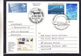 Pays Bas - Carte Postale De 1984 - Oblit Amsterdam - Vol Spécial Amsterdam Melbourne - - 1980-... (Beatrix)