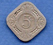 Pays Bas  -  5 Cents 1914 -  Km # 153 - état  TB+ - 5 Cent