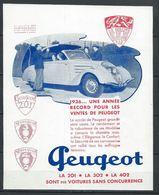 Publicité Peugeot - 402 201 301 1936 - Document D'époque Issu D'une Revue Taille Entre A4 Et A5 - Publicités