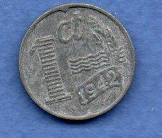 Pays Bas  -  1 Cent 1942 -  Km # 170 - état  TTB - [ 3] 1815-… : Royaume Des Pays-Bas