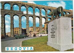 Segovia: FIAT-SEAT 850, 850 COUPÉ, 124 FAMILIAR, FORD GALAXIE '63 - Monumento De Roma - Acueducto - (Espana/Spain) - Toerisme