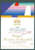 Etiquette De Vin - Chateau Mouton Rothschild - Pauillac - 1984 - 1 Er Grand Cru Classé 37,5 Cl - Bordeaux
