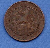 Pays Bas  -  2.5 Cents 1905-  Km # 134 - état  TB - [ 3] 1815-… : Royaume Des Pays-Bas