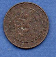 Pays Bas  -  2.5 Cents 1906  -  Km # 134 - état  TB+ - [ 3] 1815-… : Royaume Des Pays-Bas