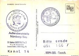 QSL / Zahlreiche Stempel ! / Bamberg (D-A283) - QSL Cards