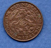 Pays Bas  -  1 Cents 1941  -  Km # 152 - état  TTB+ - [ 3] 1815-… : Koninkrijk Der Nederlanden